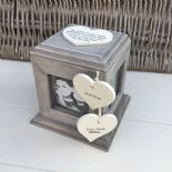 Shabby Chic PERSONALISED Rustic Wood Auntie Aunty Aunt Gift ANY NAME Photo Cube